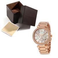 ingrosso orologio d'oro femminile-orologi da donna Ora 5491 orologio da polso a cronometro di alta qualità Orologio da polso Orologio da donna dorato con scatola