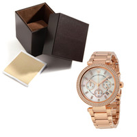 Wholesale Digital Clock Wrist Watches - womens watches Hour 5491 high quality Chrono Graph Wrist Hours Clocks Time golden female watch with box