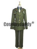 Wholesale female captain america cosplay online - The Avengers Captain America Steve Rogers WWII Army SSR Uniform Cosplay Costume