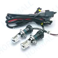 Wholesale H4 Hid Bulbs Hi Low - 55W H4 bulbs Hi Low Beam 12V AC HID Automotive Headlight Replacement Bulb H4-3 BiXenon Hi Lo Beam Lamp 4300k 6000 8000K