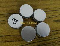контейнеры для бальзама для губ оптовых-100 шт./лот Бесплатная доставка 10 мл алюминиевые банки бальзам для губ контейнер, 10 г алюминиевые банки крем с винтовой крышкой косметический случай банку