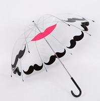 ingrosso ombrelli in plastica trasparente-Hot Garden Plastic EVA Transparent Cute Bird Cage Parasol Ombrello da pioggia a maniglia lunga