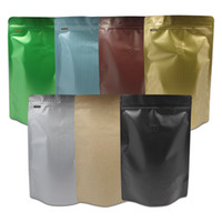 Wholesale Colorful Bean Bags - 20pcs lot Resealable Colorful Zip Lock Stand Up Aluminum Foil Pouches Mylar Ziplock Bags Coffee Bean Packaging Bag with Valve