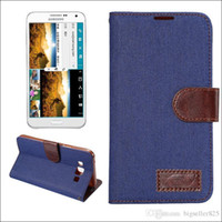 iphone cases kovboy toptan satış-Kot Kovboy Denim Cüzdan Deri Telefon Kılıfı Kapak Için Kart Yuvası Ile Para Cep Çevirme iphone 6 6 s artı S6 6 kenar Not5