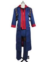 Wholesale Nero Cosplay Costume - Devil May Cry 4 Nero men's blue windbreaker Cosplay Costume