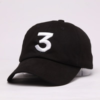 Wholesale Black Bears Baseball - Embroidered chance the rapper 3 Hat Black Baseball Cap Fashion kanye west bear dad caps casquette hip hop Strapback sun drake ovo hats