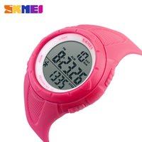 Wholesale led top for girls - 2017 Ladies Top SKMEI Pedometer Women Digital Wristwatches LED Health Sports Watches Waterproof Girls For Gift Alarm Chrono Calendar Watch
