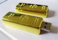 unidades flash 1gb al por mayor-20pcs epacket / post 100% de capacidad real Barra de oro 1GB 2GB 4GB 8GB 16GB 32GB 64GB 128GB 256GB Memoria USB Unidad de memoria Flash con OPP Packaging 01