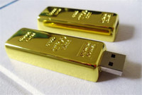 Wholesale Gold Bar Memory Sticks - 20pcs epacket post 100% Real Capacity Gold bar 1GB 2GB 4GB 8GB 16GB 32GB 64GB 128GB 256GB USB Flash Drive Memory Stick with OPP Packaging 01
