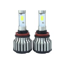 Wholesale H4 Led Car Light 12v - 2 pcs 60w H11 H4 H1 H3 H7 HB3 HB4 H13 9005 9006 led light car drl 7200lm 12v 24V COB autos led bulbs h8 h9 for volkswagen lada car styling