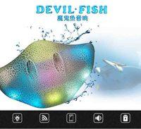 Wholesale Box Portable Fishing - Mini Bluetooth Devil Fish Ray Speaker Portable Wireless bluetooth Stingray Speaker with LED Light Support Micro USB Port TF SD Card DHL Free