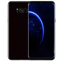 Wholesale micro camera 3g - Goophone S8 S8+ android 7.0 unlocked fingerprint smartphones shown 4G LTE 4G RAM 256G ROM MTK6753 6.1inch 3G Cell phones