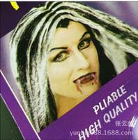 maquillage des dents achat en gros de-Mode Nouveau Vampire Faux Dents pour Halloween Party Prop, Mascarade Cosplay Maquillage Drôle Pilule De Sang Dentiers Nouveau
