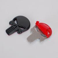film amblemi toptan satış-100 adet Superhero Film Crossbones İnsan İskeleti Metal 3D Araba Rozeti Amblem Sticker Oto Sticker Amblemler Rozetleri
