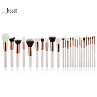 Wholesale blush pearls makeup resale online - Jessup Pearl White Rose Gold Professional Makeup Brushes Set Make Up Brush Tools Kit Foundation Powder Blushes Cosmetic Brush