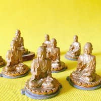 Wholesale Famous Craft - 10Pcs Buddha statue famous architecture statue fairy garden gnome moss terrarium home decor crafts bonsai miniatures figurine