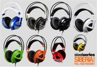 2016 OEM SteelSeries Siberia v2 Gamma completa di gioco DJ Gaming Black / White / Red / Auricolare auricolare senza box Top Seller