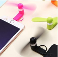 Wholesale Mini Portable Usb Fan - Portable Mini Micro USB Fan by Smartphone Cell Phone Power Mobile Phone Fan Cool Cooler For Android or iPhone Multi-Function Fan Hand Fan