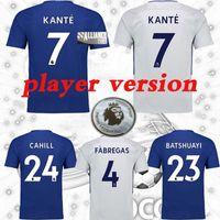 Wholesale Chelsea Player - 17 18 Player version Chelsea MORATA soccer jersey HAZARD home PEDRO PATO ZOUMA DIEGO COSTA WILLIAN FABREGAS 2017 2018 Chelsea soccer shirts
