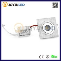 Wholesale Small Ceiling Spotlights - Wholesale-mini square Dimmable 3W High power led recessed ceiling down light lamps small led spotlights for living room cabinet bedroom