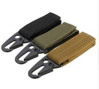 carro da cor do exército venda por atacado-Cinto de Nylon Cinto de Metal Tático militar Pendurado Mosquetão Mochila Chave Fecho para Caminhadas Camping Outdoor ferramenta ao ar livre