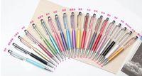 Wholesale Touch Ballpen - new for 1670pcs 2 in 1 Crystal pen Diamond ballpoint pen Stationery ballpen crystal stylus pen touch pen Wholesale pen