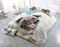 ingrosso disegni di cani-Disegni personalizzati possono essere personalizzati Set di copripiumini da 4 pezzi in cotone satinato per cani