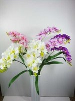 Wholesale freesia resale online - 2017 new Wumart cheaper freesia freesia simulation simulation orchid phalaenopsis two forks