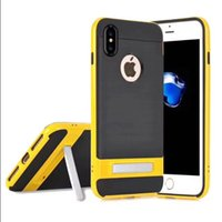 Wholesale Apple Mate - Kickstand Rugged Armor Case Shockproof Tough Hybrid Robot Cases For iPhone X 8 6 6S 7 Pus 5S Samsung S7 edge S8 Plus Huawei Mate 9