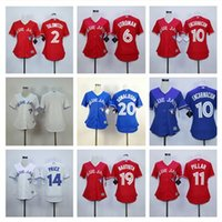 Wholesale Cheap Jay S - women Toronto Blue Jays Jersey Josh Donaldson & Jose Bautista 11 Kevin Pillar Edwin Encarnacion 6 Stroman Baseball jerseys cheap