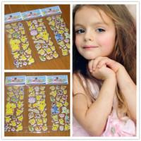 3d kinderzimmer aufkleber großhandel-Neue Mode Kinder Cartoon Pikachu 3D Aufkleber UV Tapete Kindergarten Kinder Kinderzimmer Schlafzimmer Wand B0423