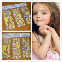 ingrosso adesivi 3d vivaisti-New Fashion Bambini Cartoon Pikachu 3D adesivi UV carta da parati vivaio bambini Camera da letto parete camera da letto B0423
