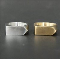 Wholesale Stainless Steel Golden Rings - Size 7-13 Classical Style Biker Ring 316L Stainless Steel Man Women For Wedding Silver Band New Biker Golden Silver Dull Polishing Ring
