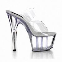 Magazine Full Transparent Star At Home 6 Inch Sandals 15cm High Heeled Shoes Sexy Womens Crystal Stripper Shoes