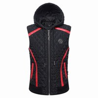 Wholesale Men Vests Cotton Outdoor - New Winter Men Outdoor sports Sleeveless Vest Fashion Cotton Waistcoat Hooded Jacket Coat Men's Zipper Cardigan Clothes