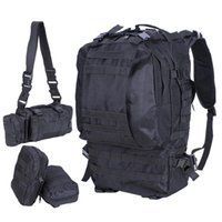 Wholesale military bags online - 55L Outdoor Military Tactical Backpack Rucksack Camping Bag Travel Hiking