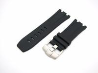 correas de reloj de 28 mm al por mayor-28mm / 29mm (hebilla de 24mm) Caliente Nueva Correa de Reloj de Caucho de Silicona Correa Hebilla de Plata Negra para buzo apcapeproof relogio masculino