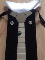 krawatten marken großhandel-GEOMETIE Marke Reine Handgemachte Silber Spiegel Linie Streifen Space Krawatte Set