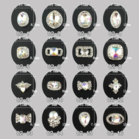 Wholesale Diy Nail Jewelry Accessories - 10x wheel Nail Art Alloy 16 Mixed Design Tip 3D Glitter Jewelry Rhinestone for Nails DIY Nail Art Salon Decorations nail art Accessories