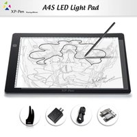 Wholesale Dc Usb Board - XP-Pen A4 18'' LED Art craft Tracing Light Table USB DC Light Box Drawing Pad Copy Board X-ray Pad with Paper Clips and Anti-fouling Glove