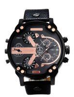 Wholesale Canvas Water Round - Fashion Brand Men's 3 dials style Leather   Canvas strap date Calendar quartz wrist watch With full logo