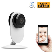 Wholesale Ccd Wifi Ip Cameras - New Arrival Wireless Wifi Baby Monitor Video 720P IP Camera Baby Eletronic support Night Vision TF slot for iPhone Android PC