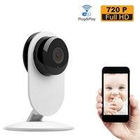 cámara pc video inalámbrica al por mayor-Nueva llegada Wireless Wifi Baby Monitor Video 720P IP Camera Baby Eletronic compatible con Night Vision TF slot para iPhone Android PC