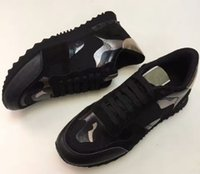 Wholesale laced up rock boots resale online - Women Men Boot Star Studded Shoes Mesh Leather Camouflage Studded Shoes Combo Stars Rock Runner Metallic Lace up Shoes Rock Studs