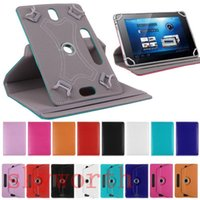 MID Universal 7 8 9 10 inch Tablet Case 360 ​​Tampa giratória de couro Flip Card Buckle