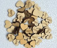 Wholesale Love Wooden Beads - 300pcs Wooden Button Beads with Love Letter For Table Ornaments Wedding Decoration Photography Props