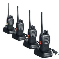 Großhandels-Walkie Talkie 4PCS BAOFENG Bf-888S Two Way Hand Pofung Radios Transceiver UHF 5W 400-470MHz 16CH CB-Funk