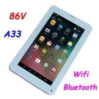 """Wholesale free china call - Allwinner A33 Quad Core 86V 7"""" 2G unlocked Phablet Android 4.4 Bluetooth Wifi Phone Call Tablet PC 3000mAh flashlight free shipping DHL"""