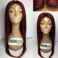 Wholesale Human Burgundy Lace Wigs - Full Density Full Lace Wigs Human Hair Wigs Burgundy #99j Glueless Brazilian Human Hair Lace Front Wigs