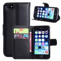 apfel iphone steht großhandel-Luxus Retro Brieftasche PU Ledertasche für Apple iPhone 5 5 S SE Fundas Telefon Abdeckung Flip Stand Capa Coque mit Kartensteckplatz